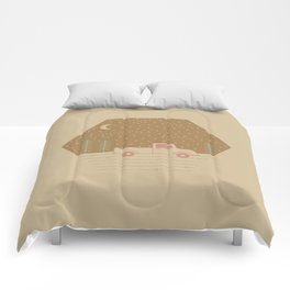Vintage Happiness on a Dirt Road Comforters