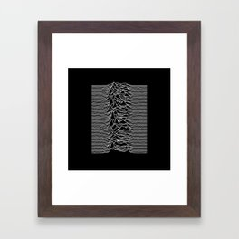 Joy Division - Unknown Pleasures Framed Art Print