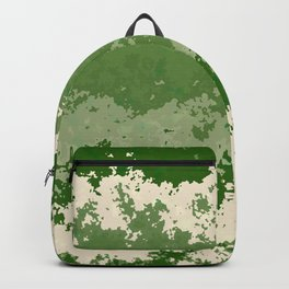 Tones of Green Abstract Lines Backpack