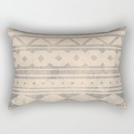 Ethnic geometric pattern with triangles circles shapes and lines Rectangular Pillow