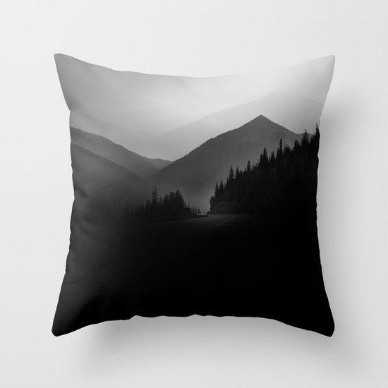 Dusky Mountains Throw Pillow