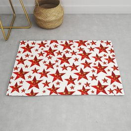 funny, stars, laugh, face, cheerful, red, shiny, xmas, smiley, Rug