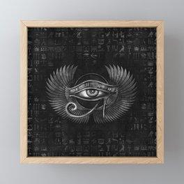 Egyptian Eye of Horus - Wadjet Digital Art Framed Mini Art Print