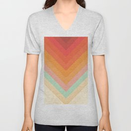 Rainbow Chevrons Unisex V-Neck