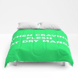 When Craving Flesh Eat Dry Mango (in Green) - Vegan Advice Comforters