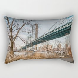 Manhattan Bridge Perspective Rectangular Pillow