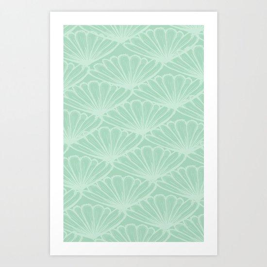 Lady in Mint Art Print