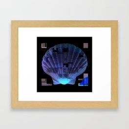 Cross Collage Prints Sea Shell Framed Art Print