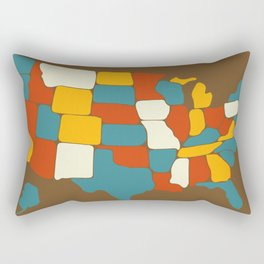 Map of Most of the United States of America (USA) Rectangular Pillow