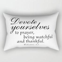 Devote prayer watchful thankful,Colossians 4:2,Christian BibleVerse Rectangular Pillow