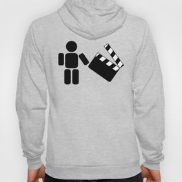 Pictogram holding a movie clapperboard Hoody