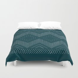 Teal Tribal Duvet Cover