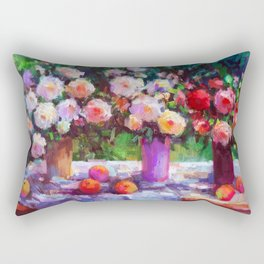 Summer Roses Rectangular Pillow