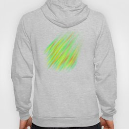 Colorful neon green brush strokes on dark gray Hoody