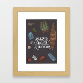 For They Will Have Adventure Framed Art Print