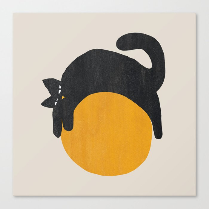 Cat with ball Canvas Print
