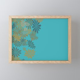 Teals & Golds Framed Mini Art Print
