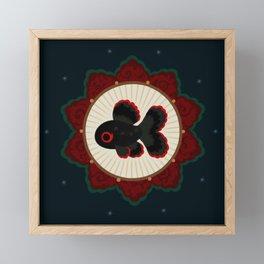 Butterfly goldfish Framed Mini Art Print