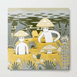 Mushroom Men Metal Print