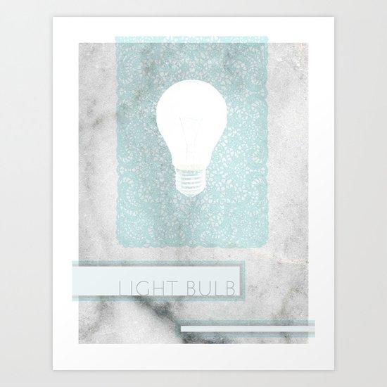 LIGHTBULB Art Print