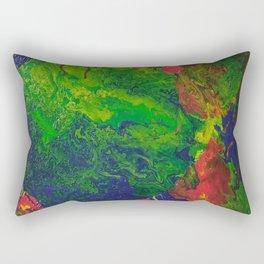 Burning Earth Rectangular Pillow