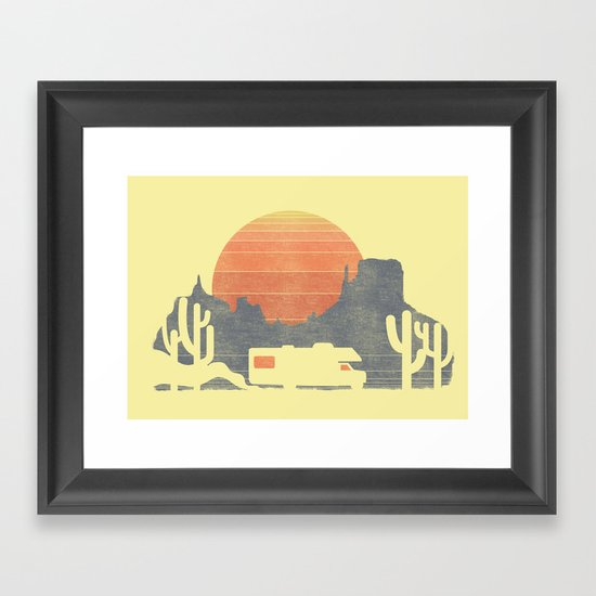 Trail of the dusty road Framed Art Print