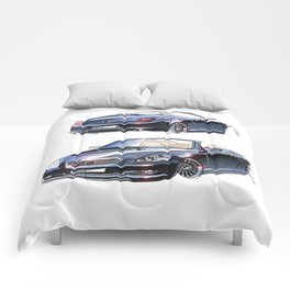 Sketch of a luxury sports car convertible. Comforters