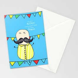 Life is like a mustach Stationery Cards
