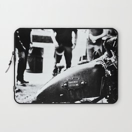 Trouble Loves Me Laptop Sleeve