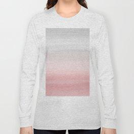 Touching Blush Gray Watercolor Abstract #1 #painting #decor #art #society6 Long Sleeve T-shirt