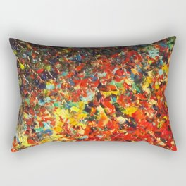 END OF THE RAINBOW - Bold Multicolor Abstract Colorful Nature Inspired Sunrise Sunset Ocean Theme Rectangular Pillow