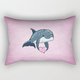 Love Ya! ~ Baby Dolphin by Amber Marine ~ Pink ~ (Copyright 2014) Rectangular Pillow