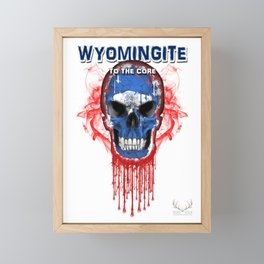 To The Core Collection: Wyoming Framed Mini Art Print