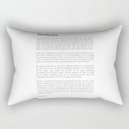 Desiderata #minimalism Rectangular Pillow