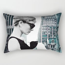 "Photo Montage ""Audrey in The City"" Rectangular Pillow"