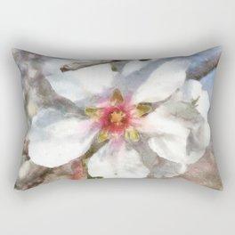 Almond Blossom Study Watercolor Rectangular Pillow