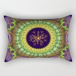 Groovy mandala with doodle flower Rectangular Pillow