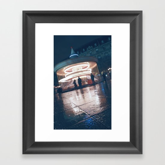 Paris Ferris Framed Art Print