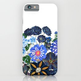 Vintage & Shabby Chic - Blue Flower Summer Meadow iPhone Case