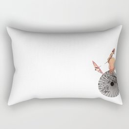 The chinese aerialist Rectangular Pillow