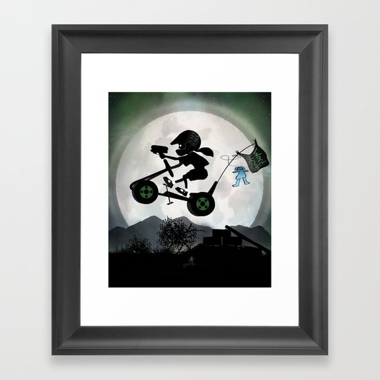 Halo Kid Framed Art Print