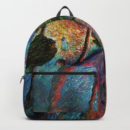 'The Love Vortex - Star-crossed Lovers' Variation 2 mountain landscape by Marianne Von Werefkin Backpack