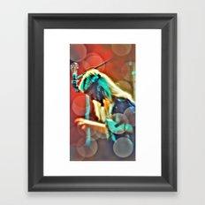 One touch of the keys Framed Art Print