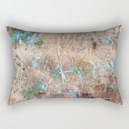 Gold grunge painting Rectangular Pillow