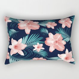 Tropical Flowers Palm Leaves Finesse #1 #tropical #decor #art #society6 Rectangular Pillow