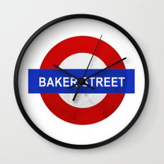 Sherlock Baker Street Print Wall Clock