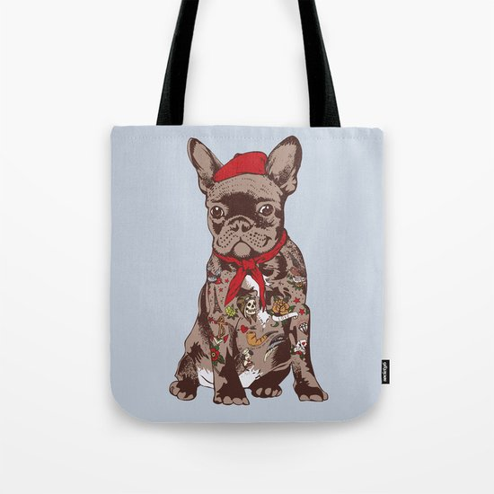French Bulldog Tattoo Tote Bag