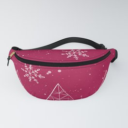 Merry Christmas Red And White Fanny Pack