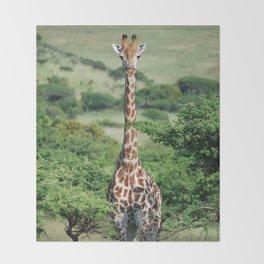 Giraffe Standing tall Throw Blanket