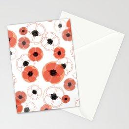 Poppy White Pattern MT Stationery Cards